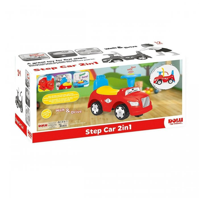 İlk Adım Araba 2 In 1 Kutuda  Step Car Dolu 8031